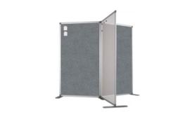 Scheidingswand - Accent - 80x110 cm (BXH) grijs