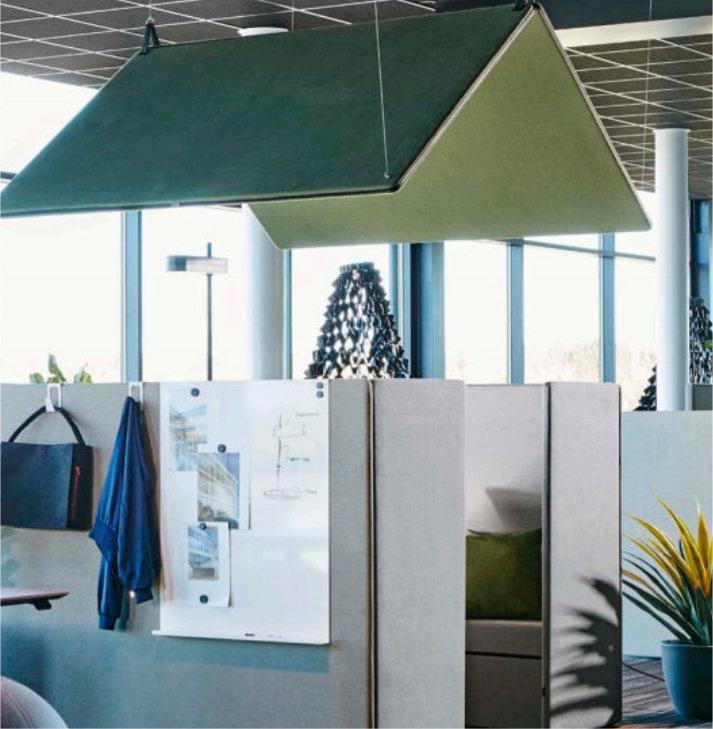 Akoestische werkplek The Hut Roof