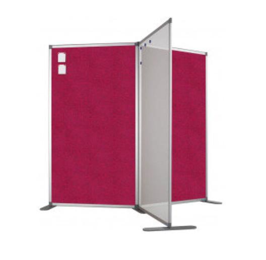Scheidingswand - accent - 100x180 cm (BXH) roze