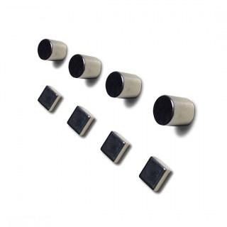 Glasbordmagneten vierkant, cilinder