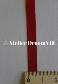 Dubbelzijdig satijnlint 6 mm rood (per meter)