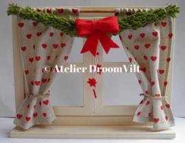 Patroonblad 'Een venstertje in kerstsferen'