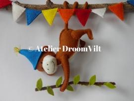 Patroonblad 'DroomVilt aapje viert feest!'