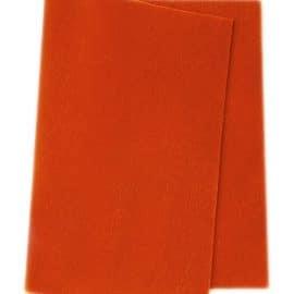 Wolvilt oranje 20 x 180 cm