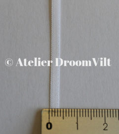 Dubbelzijdig satijnlint 4 mm wit (per meter)