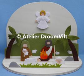 Patroonblad 'Kersttafereel: herders in het veld ' (excl. houten seizoenstafel)