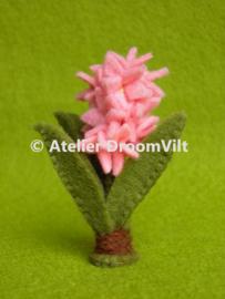 Patroonblad 'Een kleine hyacinth'