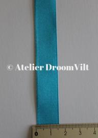 Dubbelzijdig satijnlint 16 mm blauw (per meter)