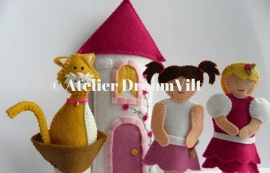 Viltpakket 'vingerpoppetjes prinsessenserie'
