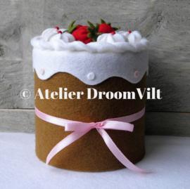 Viltpakket 'Een heerlijk aardbeientaartje'