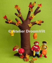 Combi-viltpakket 'Herfstboom & Maartje en Mart lopen de Sint Maartenoptocht'