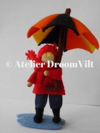 Patroonblad 'Onder moeders paraplu'