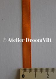 Dubbelzijdig satijnlint 6 mm oranje (per meter)