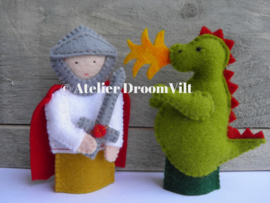 Viltpakket 'vingerpoppetjes 'ridder Joris en de draak''