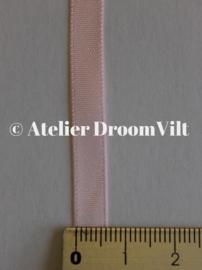 Dubbelzijdig satijnlint 6 mm lichtroze (per meter)