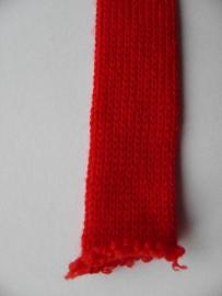 Rondgebreide tricot rood 3 cm breed (per 10 cm)