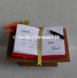 Patroonblad 'Schrijftafel van Sinterklaas'