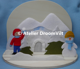 Viltpakket 'Sneeuwpret!' (incl. houten seizoenstafel)