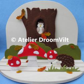 Viltpakket 'Seizoenstafereel: welkom herfst!' (incl. houten seizoenstafel)