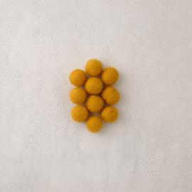 Viltkralen ⌀ 18 mm zonnegeel (10 stuks)