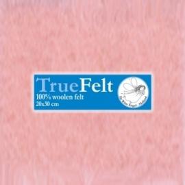 Wolvilt roze 20 x 30 cm