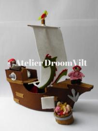 Viltpakket 'Drijvende ton met een piraat'