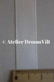 Dubbelzijdig satijnlint 16 mm wit (per meter)