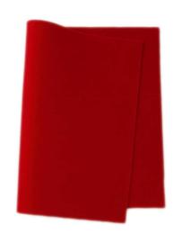 Wolvilt rood 20 x 180 cm