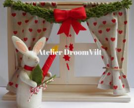 Compleet pakket 'Een venstertje in kerstsferen met kerstkonijntje'