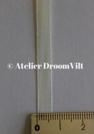 Dubbelzijdig satijnlint 6 mm crème (per meter)