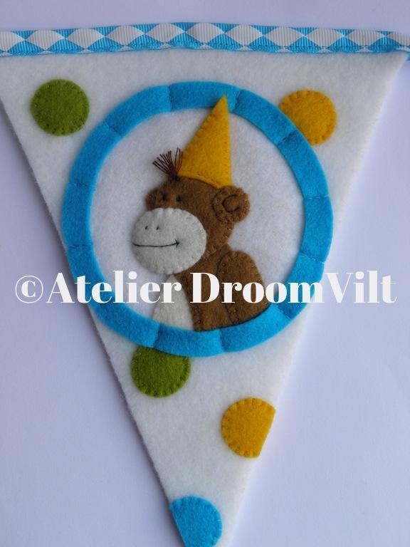 Viltpakket 'Vlaggenlijn DroomVilt-aapje'
