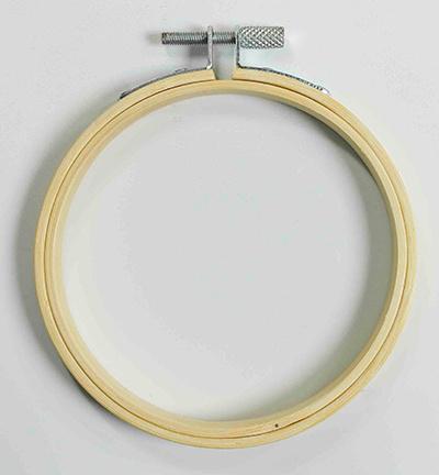Houten borduurring (ø 10 cm)