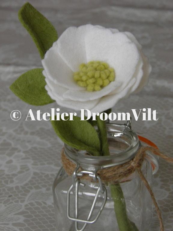Viltpakket 'Witte bloem in een vaasje'