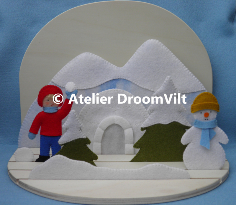 Patroonblad 'Sneeuwpret!' (excl. houten seizoenstafel)