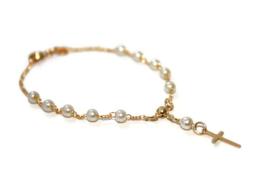 Armband Goud verguld Jezus rozenkran
