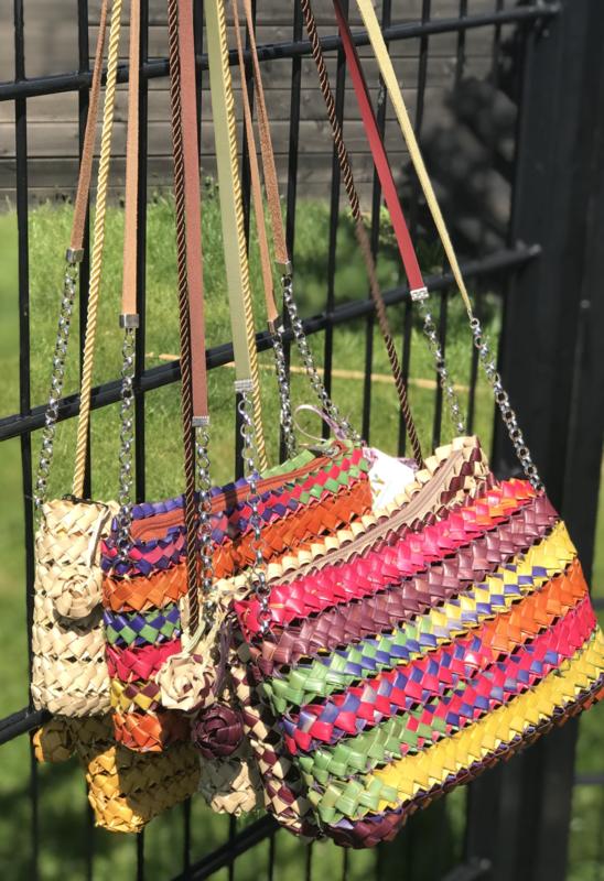 Zomer tassen van  palmvezels