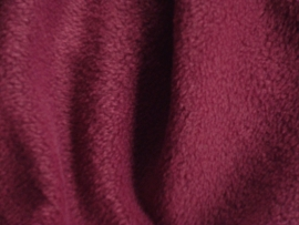 Polar fleece kleur Bordeaux  € 5,00 per meter Art FB841