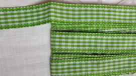 Lint  groen ruitje  ART LI66  - 1 meter voor