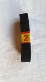 Knoopsgaten elastiek zwart 2,5 mtr lang