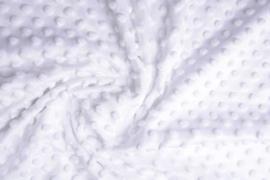Minky dot Wit  Art KL-023 - 20 cm voor