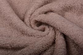 Badstof kleur donker oud roze  art BA-092 € 12,00 per meter. 50 cm voor