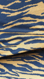 Jaquard Bora black ocre   NU € 10,- p/m  - 20 cm voor