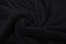 Teddy stof zwart  Art022 - 50 cm voor