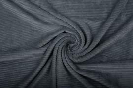 jersey Corduroy donkergrijs    Art Kl 071- 40 cm voor