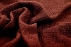 Hydrofiel doek 100% cotton  roest brique   Art 0186-0187