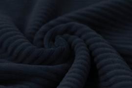 Jersey  corduroy   marine     Art CD30 -40 cm voor
