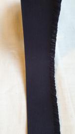 Donkerblauw elastiek met kartelrandje aanbieding