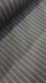 Stretch zwart met fijn streepjes motief  Art Nw046    € 10,- p/m - 20 cm voor
