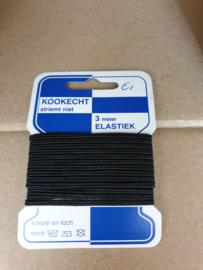 Pakje baby elastiek plat  zwart € 1,00