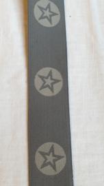 Elastiek met ster 4 cm breed - 50 cm voor